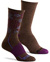 Hi-Tec Women's Performance Hiking Socks for Outdoors, Casual Use (Pack of 2 Pairs)