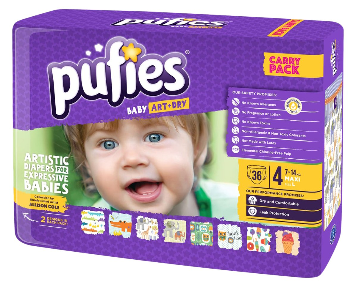 Pufies Baby Art Dry Sweet Treats Pañales talla  kg