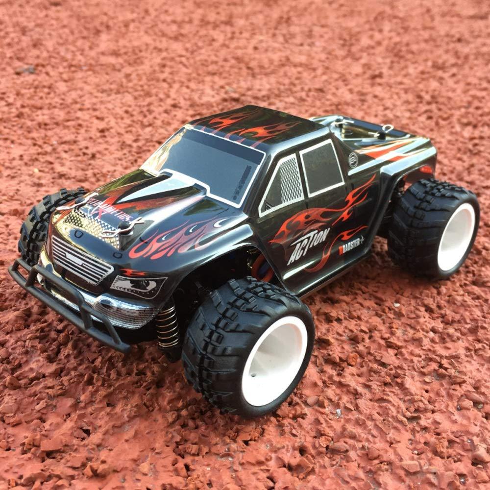 Pinjeer 35キロメートル/ hミニ1:28リモートコントロール四輪駆動蚊車大人rc充電モバイルレースビッグフット高速ドリフトカーギフト用キッズ8+ (Color : Blue, サイズ : 1-Battery) B07R51LGM9 Black 3-Battery 3-Battery|Black