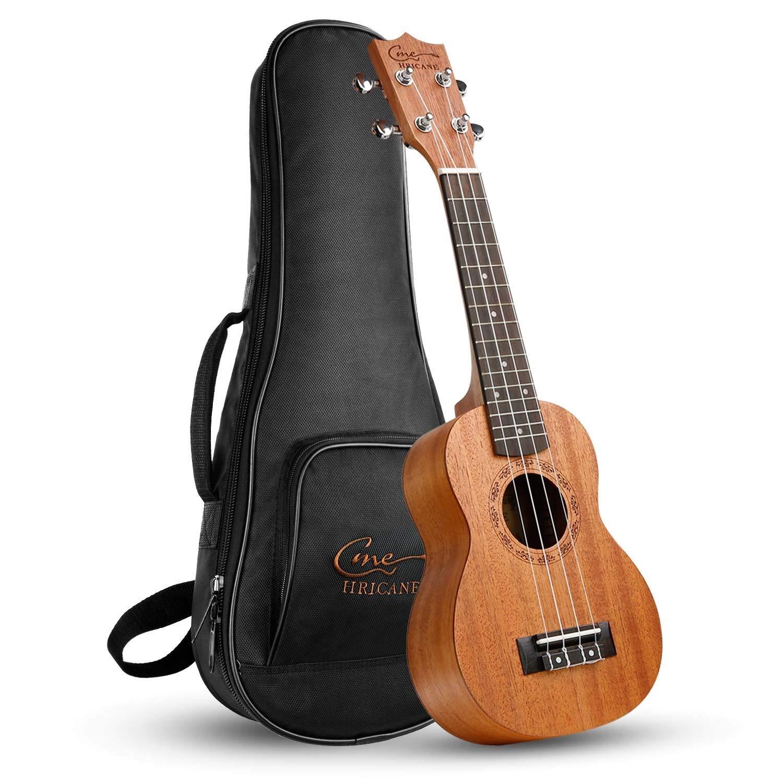 Ukelele, Hricane Ukeleles Soprano 21 Pulgadas Instrumento de Caoba, Ukulele Profesional para Principiantes product image