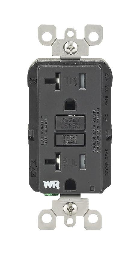 Leviton WT899-E 20-Amp 125-Volt SmartLock Pro Slim Weather-Resistant ...