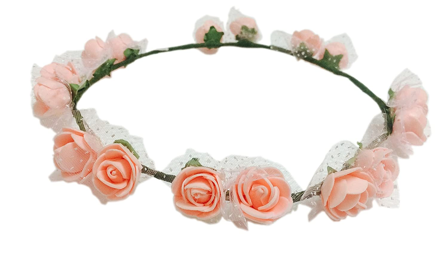 Loops n knots pataka collection peach color tiaracrownheadband for loops n knots pataka collection peach color tiaracrownheadband for girls women hair accessories for birthdayparty wedding amazon jewellery izmirmasajfo