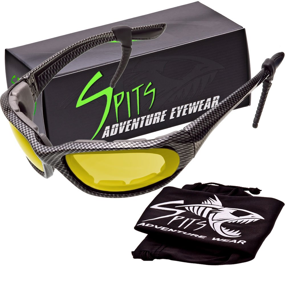 "Kickstand Foam Padded Sunglasses - ""Metal Mesh"" Frame - Yellow Mirrored Lenses"