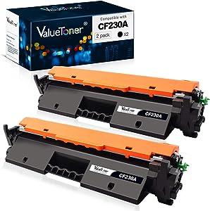 Valuetoner Compatible Toner Cartridge Replacement for HP 30A CF230A for Laserjet Pro MFP M227fdw M203dw M227fdn M203dn M203d M227sdn M227 M203 Printer (2 Black)