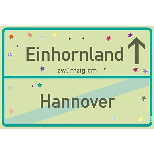 Cartel de unicornio Vanva Hannover, verde lima, unicornio ...