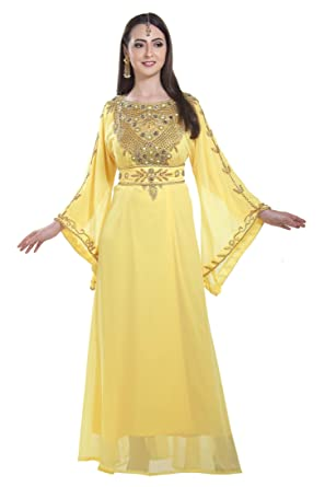 9ba73c4b0c8 Evening Wear Home Gown Nighty Caftan Dress Full Length Maxi for Ladies 7199  (XS)