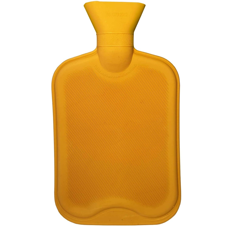 Gelb W/ärmflaschen,Fu/ß Bauch W/ärmer sichere W/ärmeflasche Bettflasche W/ärmflasche Gummi 2 Liter ohne Bezug langlebig