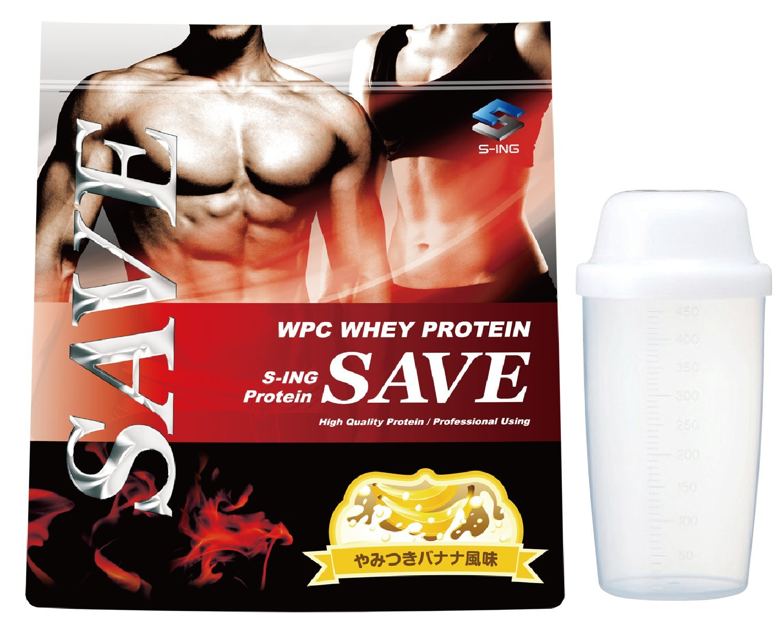 【シェイカー付】SAVE プロテイン やみつきバナナ風味 3kg 美味しいWPC ホエイプロテイン 乳酸菌バイオペリンエンザミン酵素配合 B07DVLWFXN