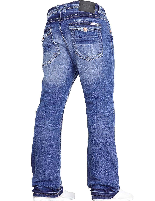 Von Denim Herren Bootcut Flared Blue Jeans mit weitem Bein in Allen Taillen und Größengrößen von JEANBASE