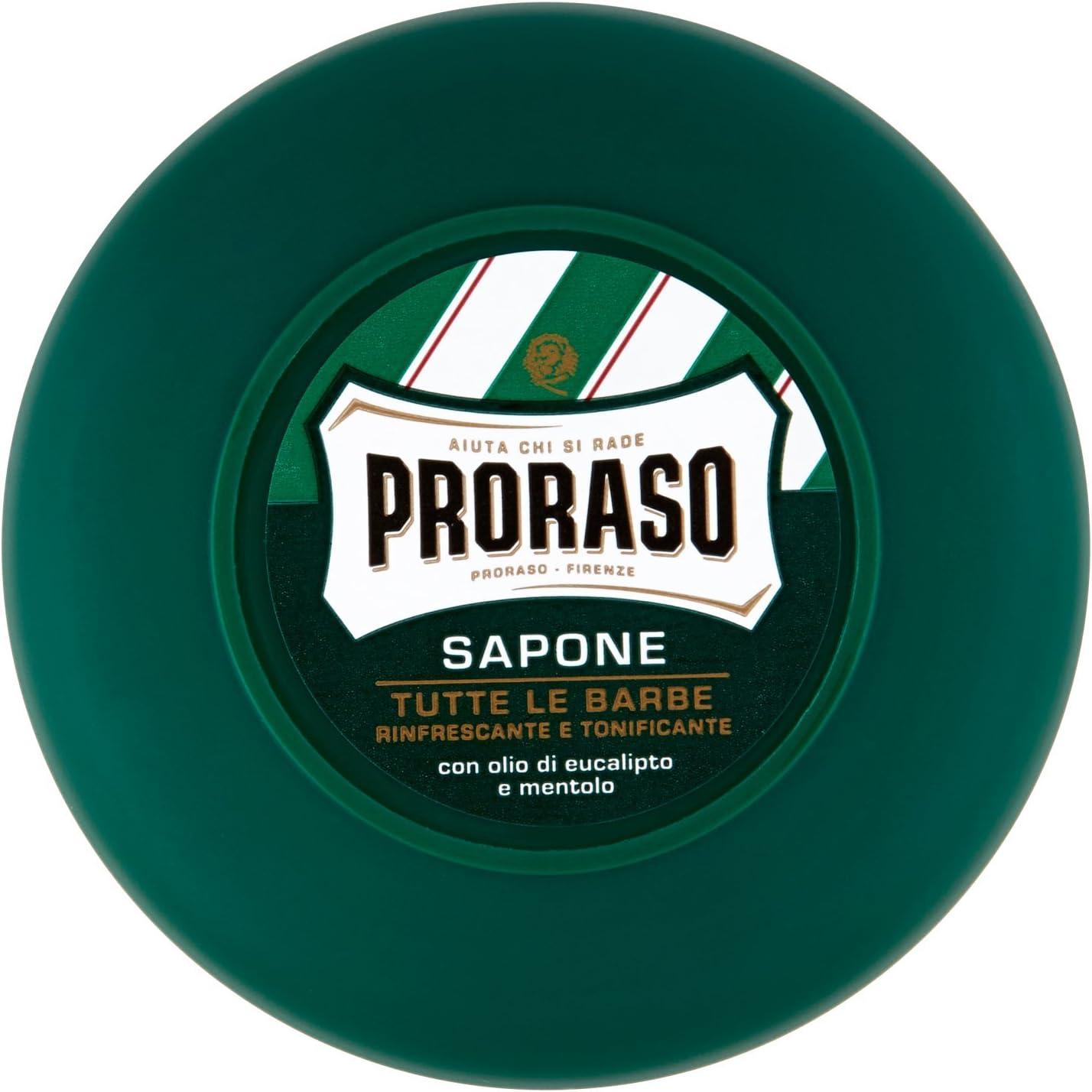 Jabón de afeitar en bote, de Proraso, con mentol y eucalipto, 75 ml