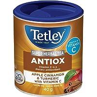 Tetley Super Herbal Tea Antiox: Apple, Cinnamon, & Turmeric with Vitamin C, 20 Count