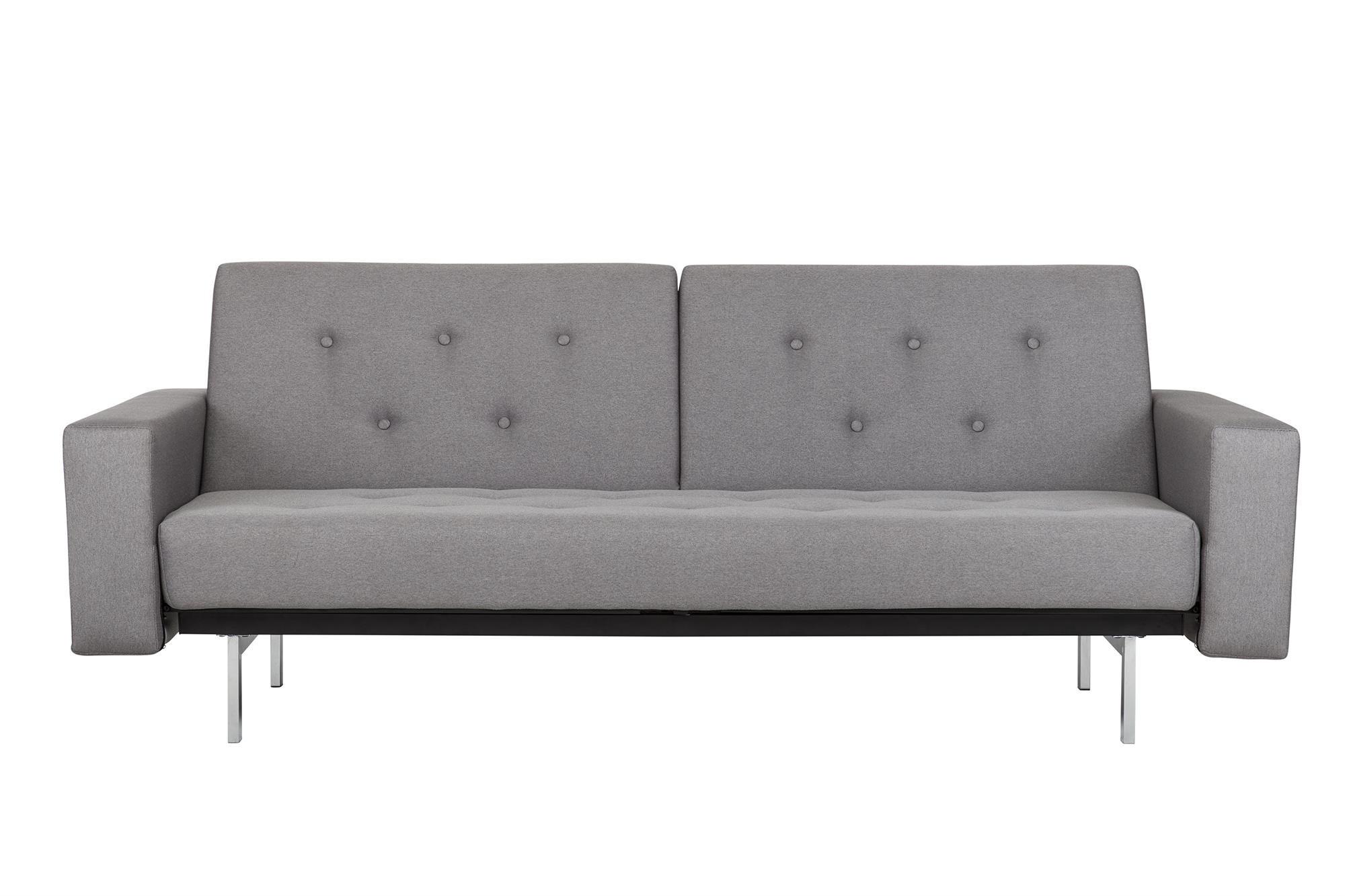 DHP Premium City Linen Queen Futon, Light Grey