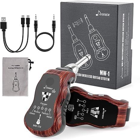 Tragbarer 2.4G Wireless Guitar System Sender /& Empfänger für E-Gitarren Bass DE