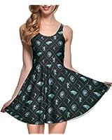 Lady Queen Women's Game of Thrones Sleeveless Scoop Tank Fit High Waist Mini Dress