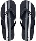 Showaflops Mens' Antimicrobial Shower & Water Sandals for Pool, Beach, Dorm and Gym - Racing Stripes