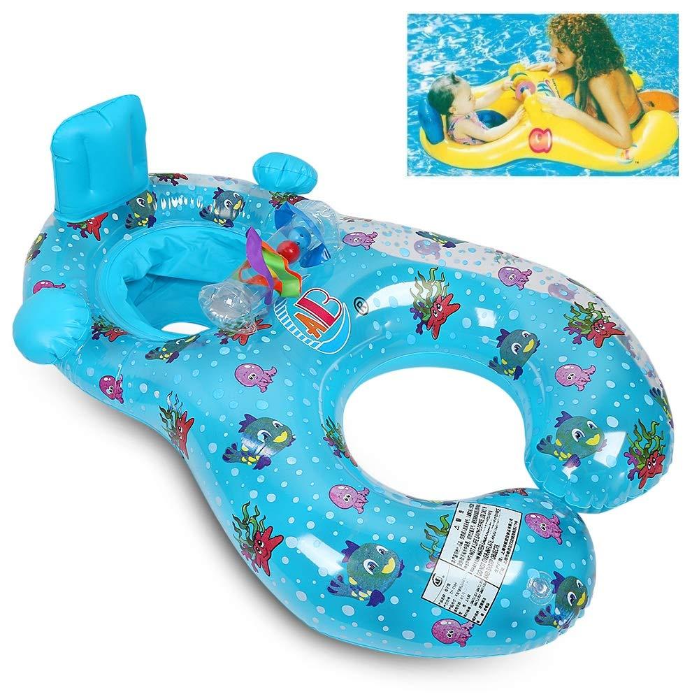 Qilerongrong Inflable Madre Bebé Piscina natación Anillo,Bebé ...