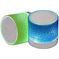 Quims Wireless LED Bluetooth Speakers & FM Radio for all Smartphones (Assorted Colour)