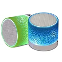 Quims Wireless LED Bluetooth Speakers & FM Radio for All Android & iPhone Smartphones (Assorted Colour)