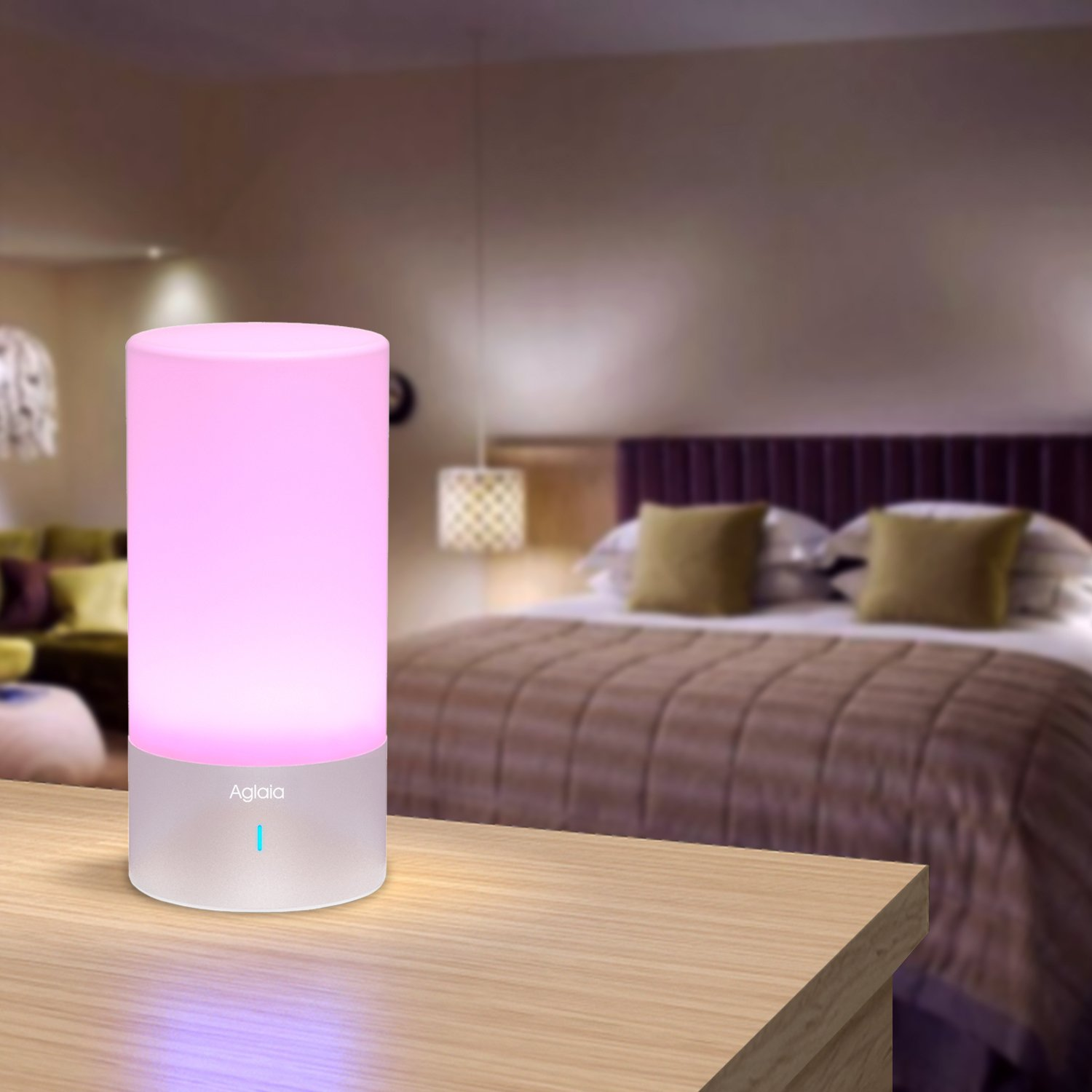 Bedside lamp touch sensor table lamp aglaia dimmable mood lamp bedside lamp touch sensor table lamp aglaia dimmable mood lamp with warm white and 256 color changing rgb for bedrooms amazon aloadofball Images