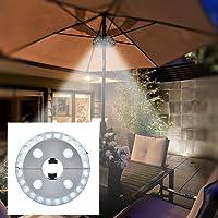 Lampe pour Parasol, Lampe 28Led LED Spot Lumineux sans fil avec 3 Modes d'Eclairage pour Parapluie, Camping, Patio, Jardin, Plage, Restaurant en plein air, Eclairage d'Urgence, Alimenté Par 4AA Piles(non inclus)