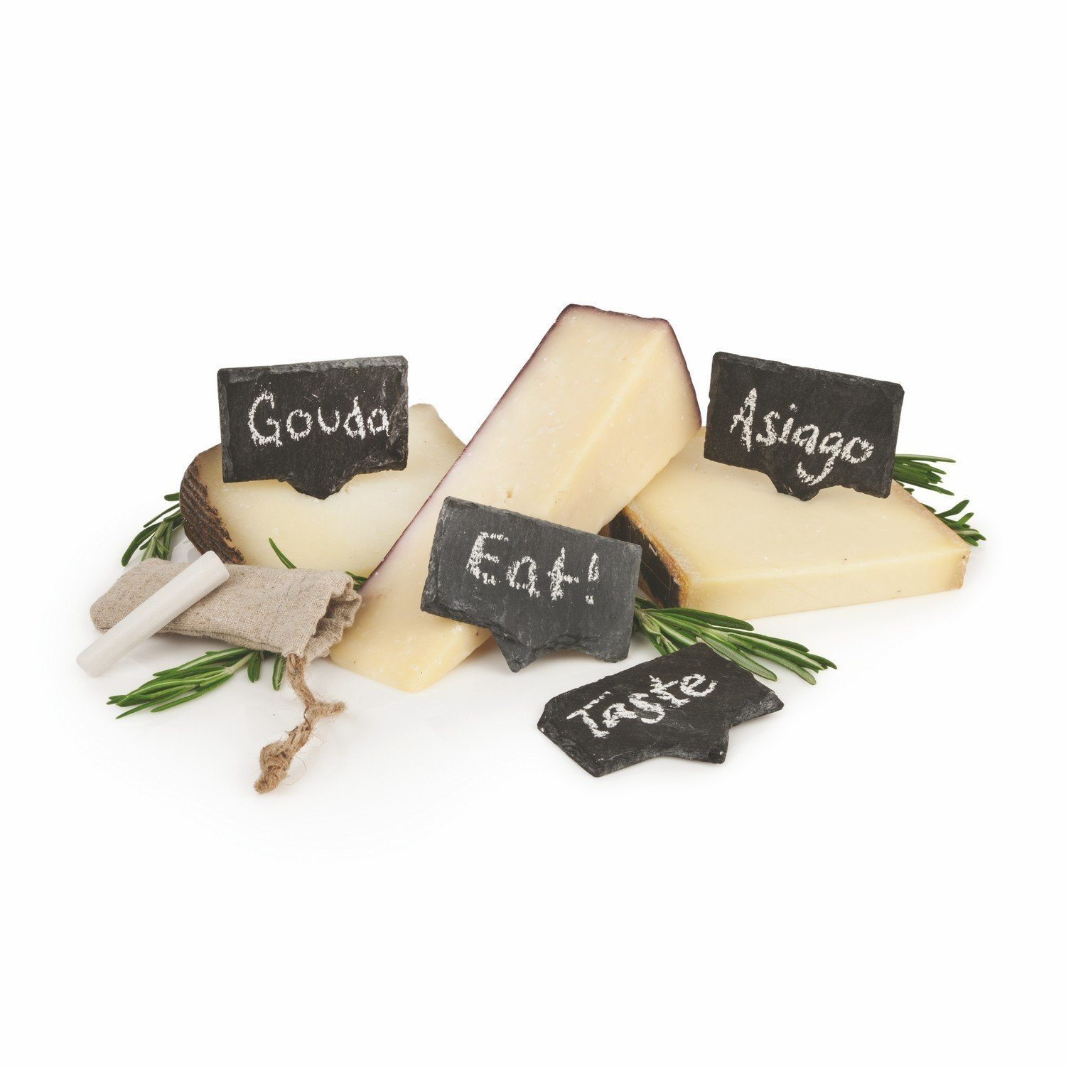 Cheese Serving, 2 Pieces Of Chalk Slate Markers Labels Cheese Tool Set