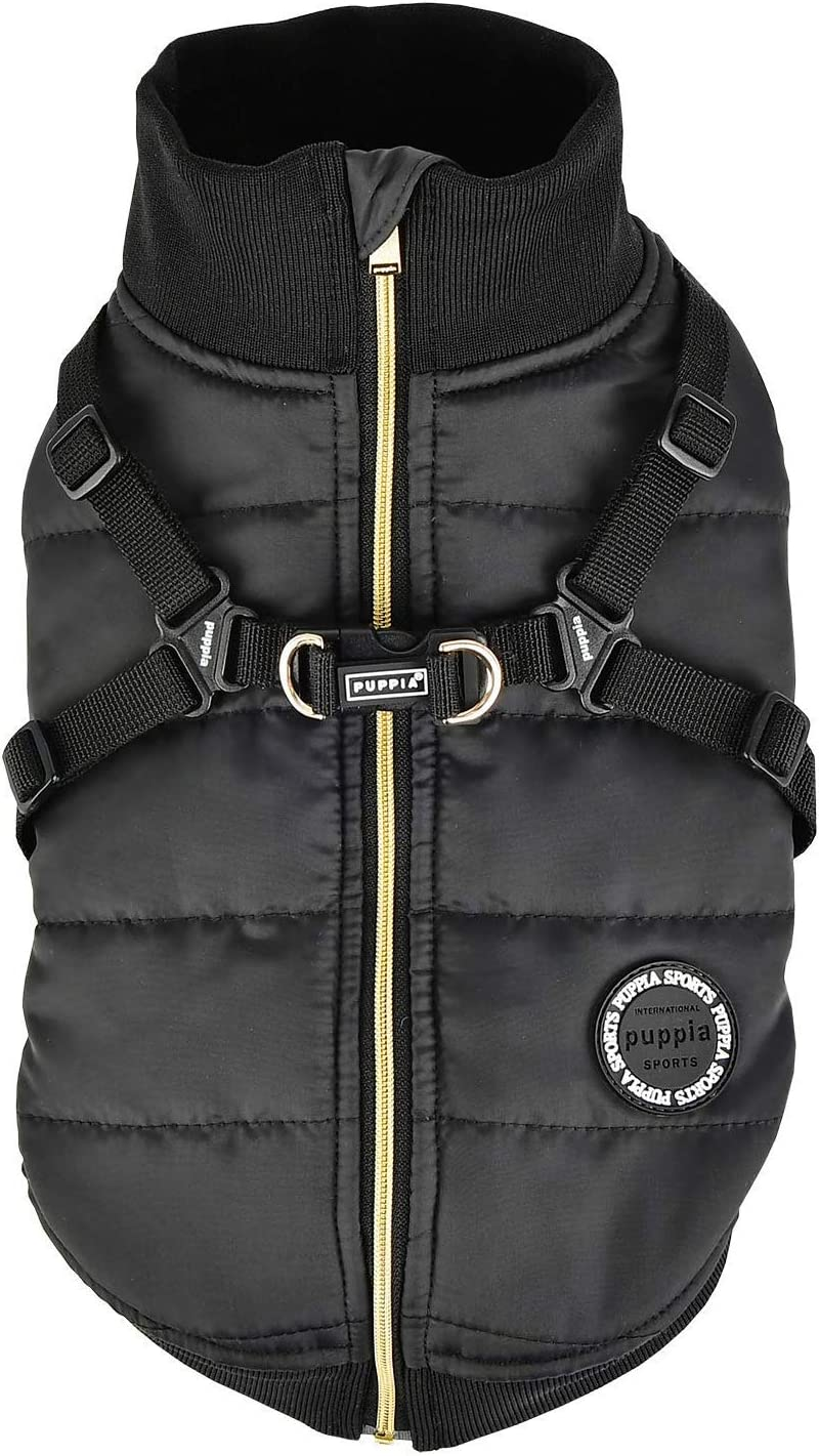 Puppia PLSD-VT1668-BK-XL Frost Pet Coat Black X-Large [並行輸入品]
