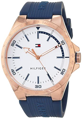 0ca9d50bb31 Tommy Hilfiger Mens Analogue Classic Quartz Watch with Silicone Strap  1791526  Amazon.co.uk  Watches