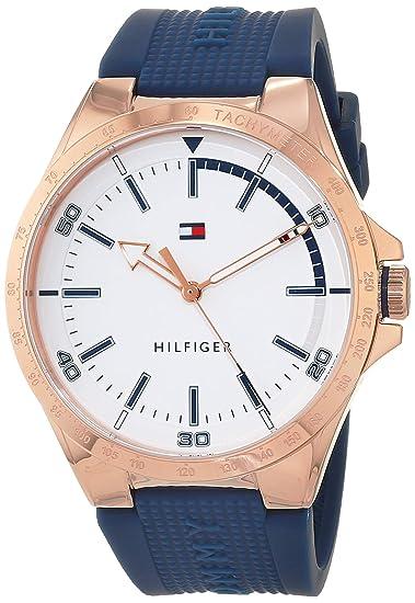 Tommy Hilfiger Reloj Analógico para Hombre de Cuarzo con Correa en Silicona 1791526: Amazon.es: Relojes