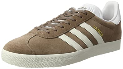 adidas Gazelle, Baskets Basses Homme, Marron (Trace Brown/Off Footwear White)