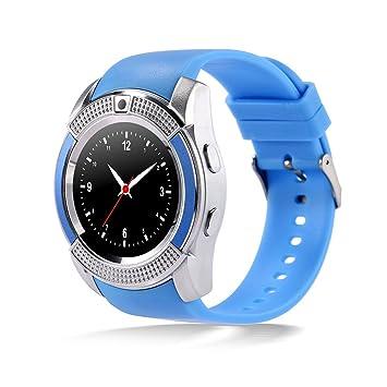 Bluetooth Smart Watch con ranura para tarjeta SIM Llamadas telefónicas con cámara Smartwatch con pedómetro Música