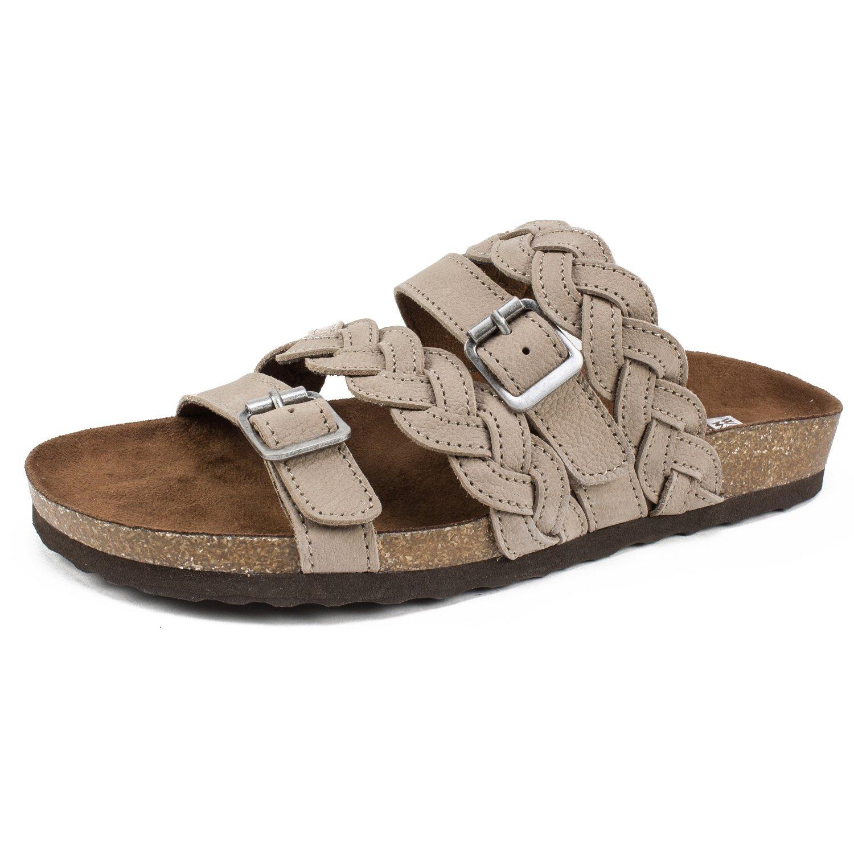 WHITE MOUNTAIN Shoes 'Holland' Women's Sandal B0755N1KY2 9 M US Grey