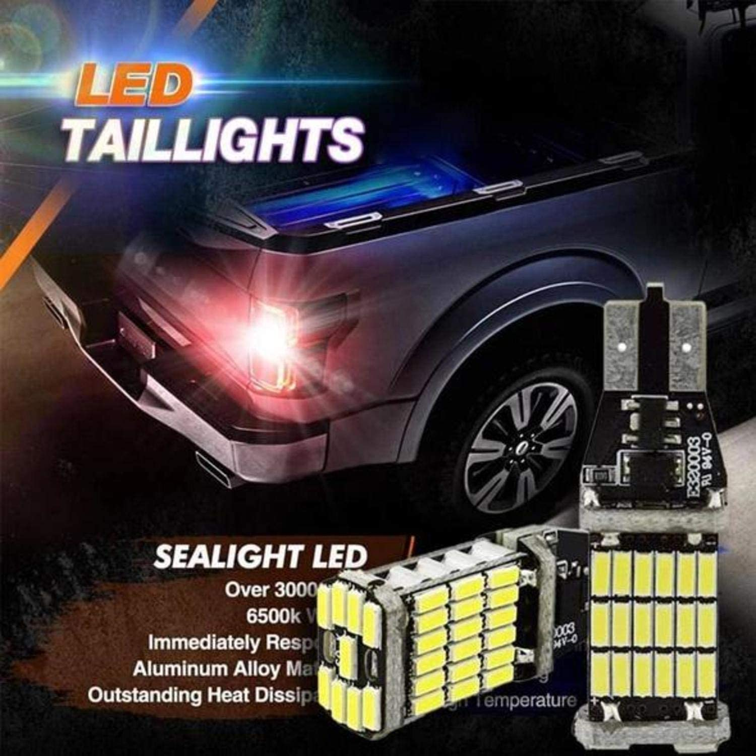 Telozi 2019 Universal LED Taillights Suitable for Various Cars 2PCS