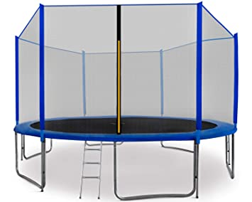 BullPower Gartentrampolin Kinder Trampolin Set 305 366 cm Netz Leiter GS Outdoor