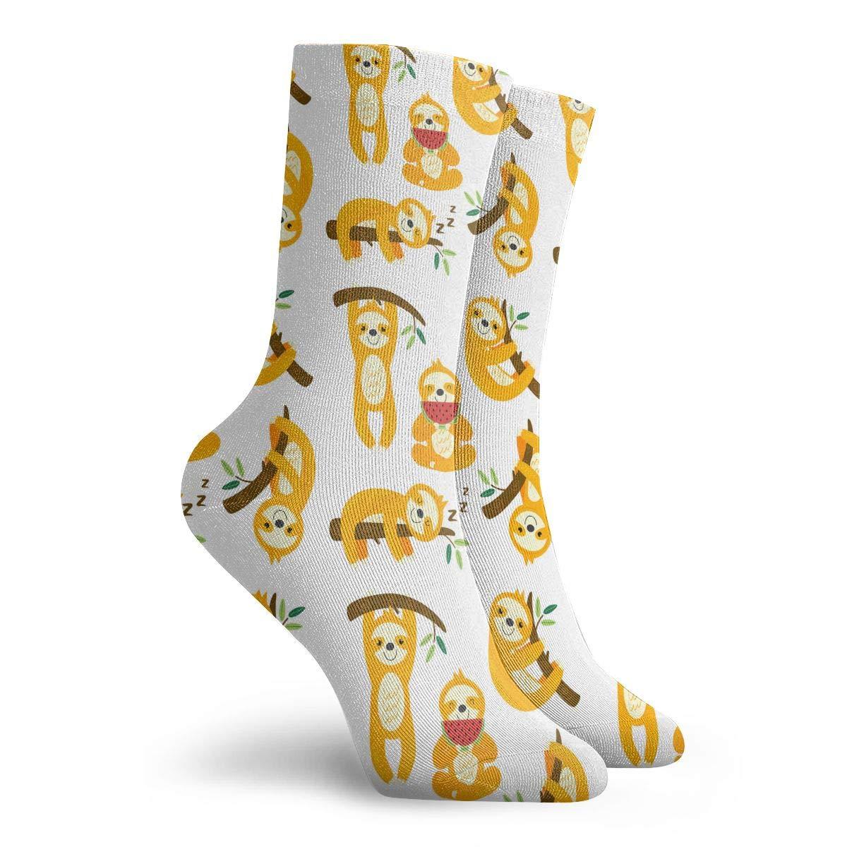 Unisex Funny Sloths Athletic Quarter Ankle Print Breathable Hiking Running Socks
