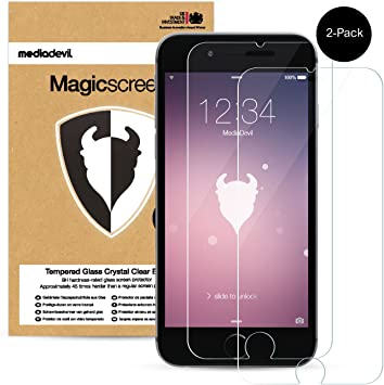 MediaDevil 2-Pack Apple iPhone 6 Plus / 6S Plus Tempered Glass Screen Protector, Magicscreen Crystal Clear (Invisible): Amazon.es: Electrónica