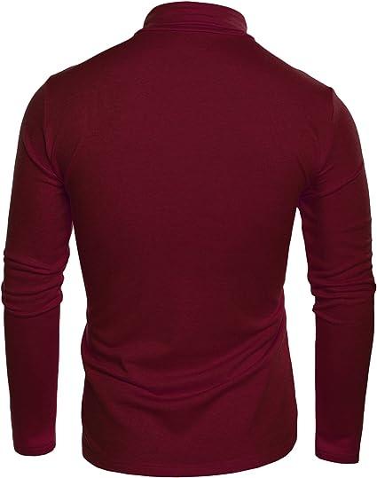 Coofandy Suéter ajustado con cuello vuelto y cuello alto para ...
