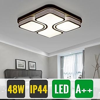 HG® 48W LED Deckenleuchte Wohnzimmer Design Weiß Schlafzimmer Deckenlampe  Beleuchtung
