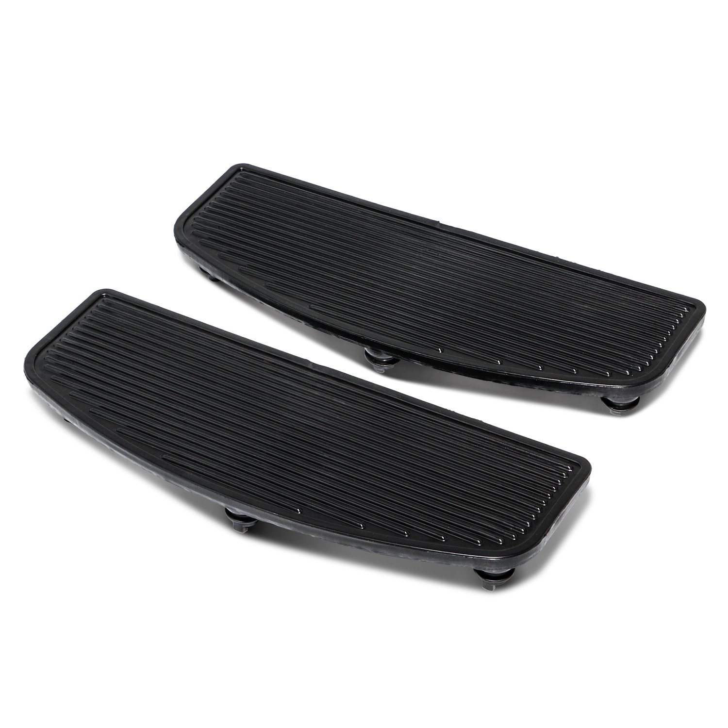 Senkauto Black Front Rubber Rider Insert Floorboard Footboards Foot Peg Boards For Harley Touring Electra Road Kind by Senkauto (Image #4)