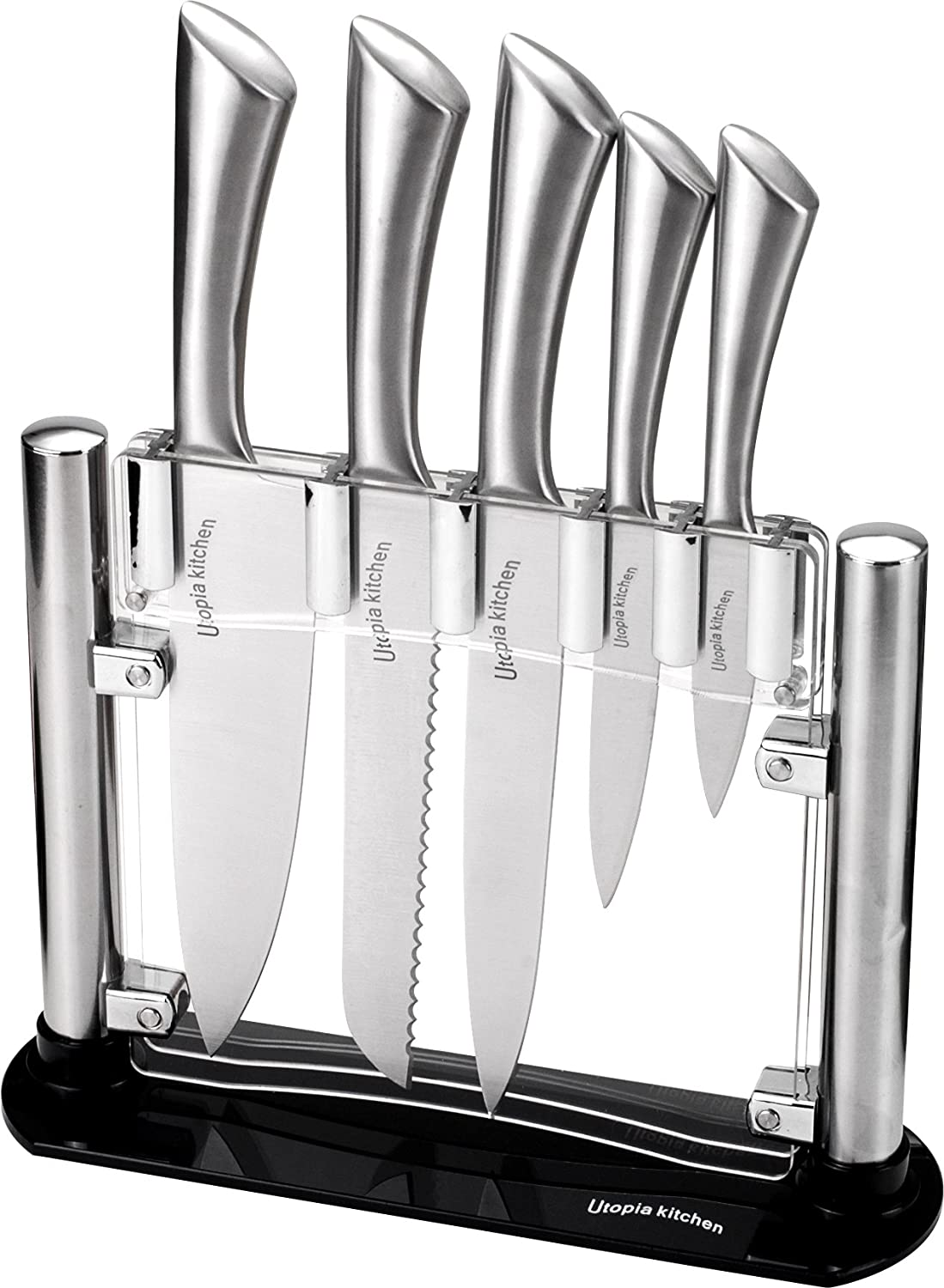 Utopia Kitchen Premium Class Stainless Steel Kitchen 6 Piece Knives Set