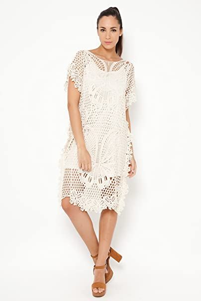 TANTRA DRESS9608, Vestido Casual para Mujer, Beige, U