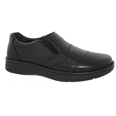 Amazon.com | Drew Men Fairfield 43906 Black/Calf Leather 11.5 XX-Wide (6E) US | Loafers & Slip-Ons