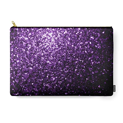 Society6 Beautiful Purple Glitter Sparkles Carry-All Pouch