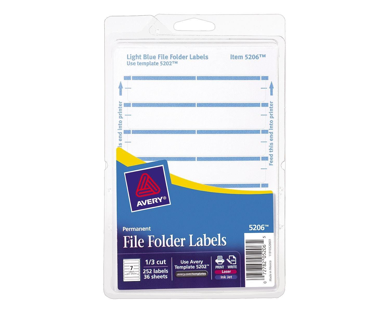 Amazon avery print or write file folder labels for laser and amazon avery print or write file folder labels for laser and inkjet printers 13 cut light blue pack of 252 5206 avery files labels office saigontimesfo