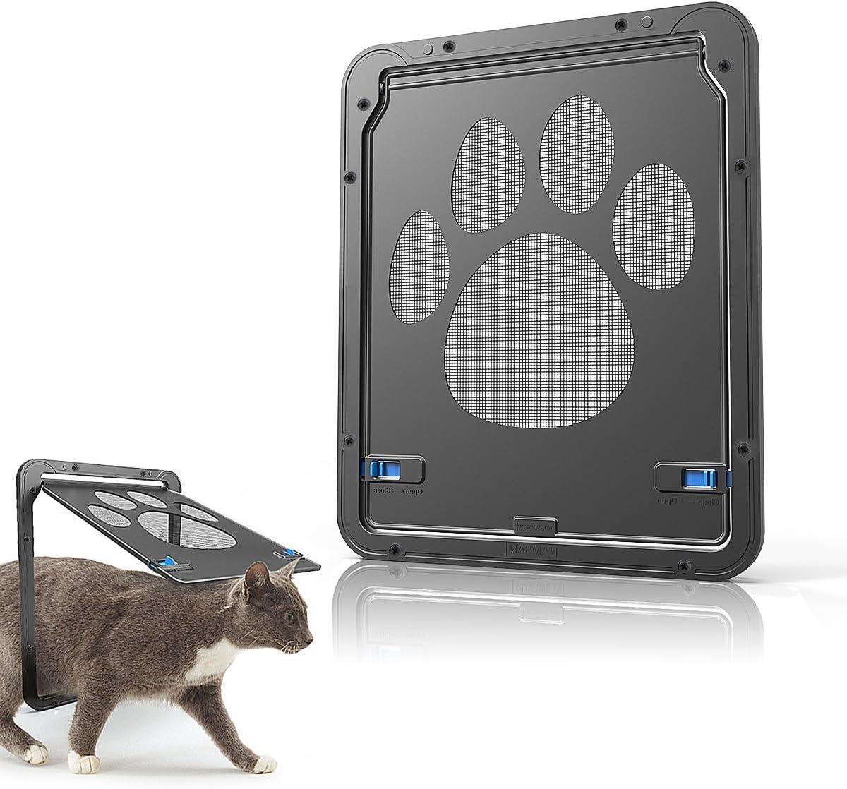 Namsan Gateras para Gato Puerta para con Gato Cierre Magnético 29 x 24cm Puerta para Mascota para Gatos y Perros Pequeños