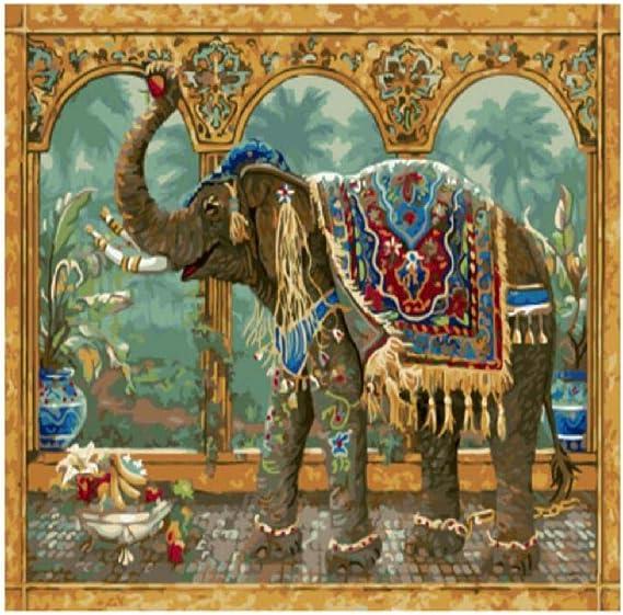 jjyyh Pintura por Números Elefante Africano 100X180Cm DIY ...
