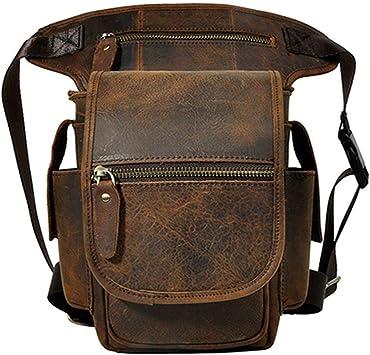 Men/'s Outdoor Retro Genuine Leather Crossbody Phone Pouch Chest Bag Waist Purse