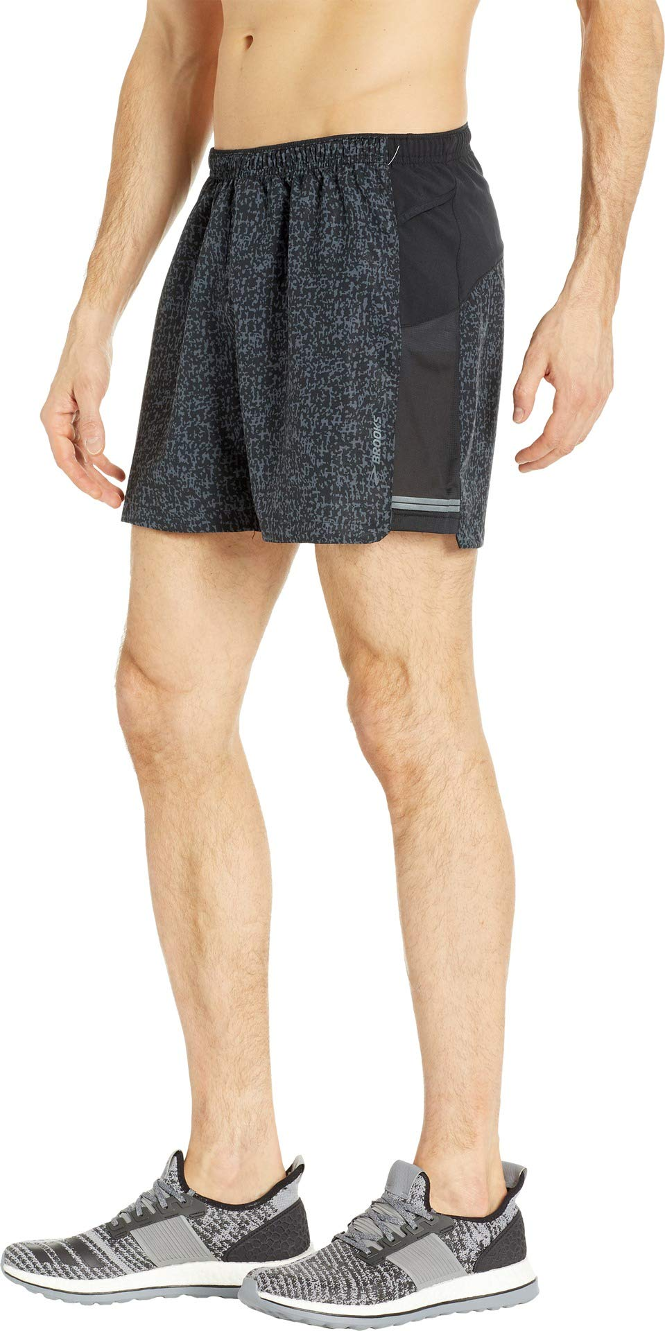 Brooks Men's Sherpa 5'' Shorts Black Static/Black Medium 5 by Brooks (Image #2)