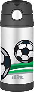 Thermos FUNtainer Straw Bottle, Football, 355 ml