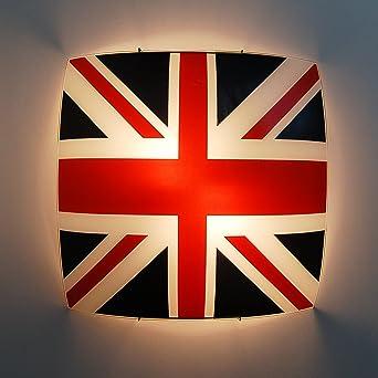 plafoniera lampadario da soffitto design bandiera inglese moderno ... - Interni Ragazze Camera Design