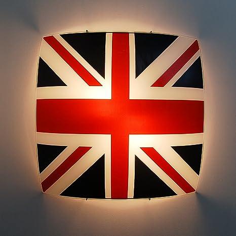 Lámpara de techo lámpara de techo diseño bandera Inglés ...